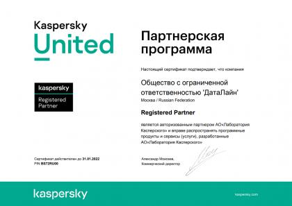 Kaspersky Registererd Partner
