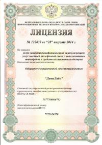Лицензия 122833