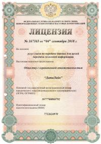 Лицензия 167365
